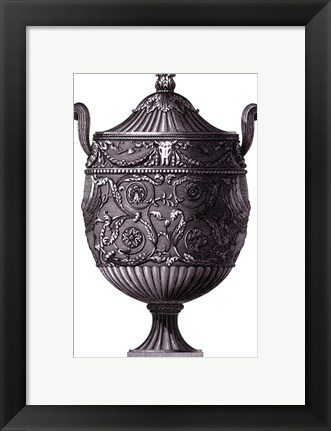 Framed Black & White Urn I (SC) Print