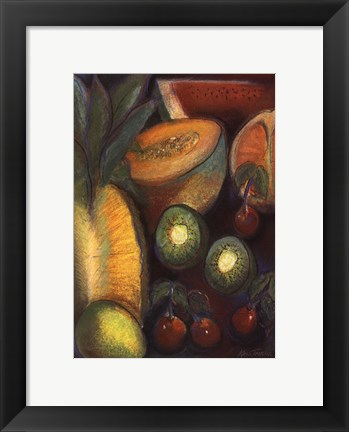 Framed Luscious Tropical Fruit I Print