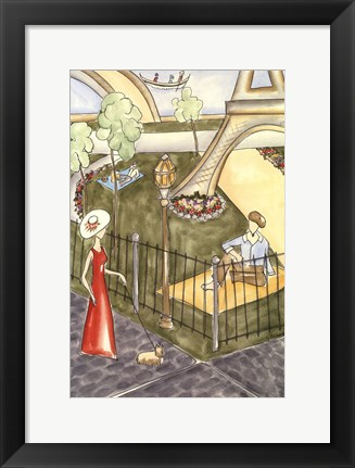 Framed Parisian Holiday I Print