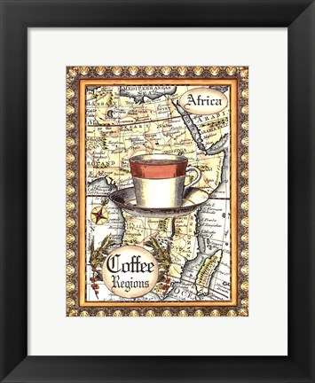 Framed Exotic Coffee (D) II Print