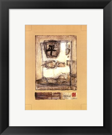 Framed Mini-Chinese-Peace I Print
