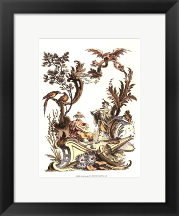 Framed Asian Garden II Print