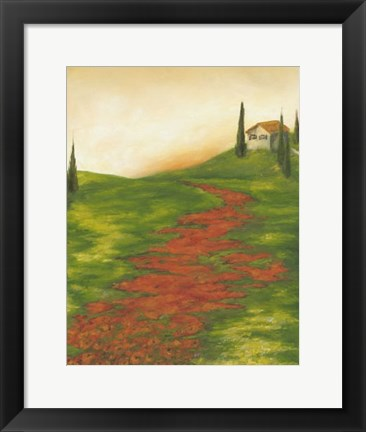 Framed Tuscany at Sunset I Print