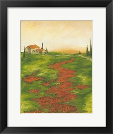 Framed Tuscany at Sunset II Print