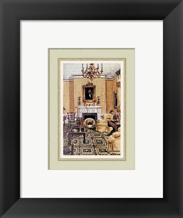 Framed Lincoln Sitting Room in Blair House Print