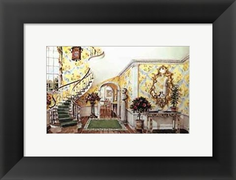 Framed Graceful Staircase Hall in the Carolinas Print