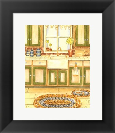 Framed Country Kitchen I Print