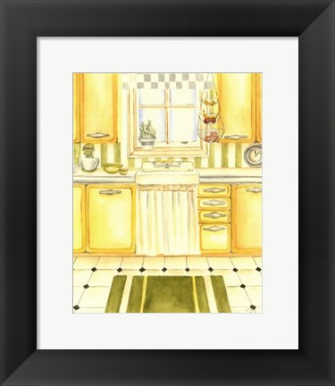 Framed Retro Kitchen I Print