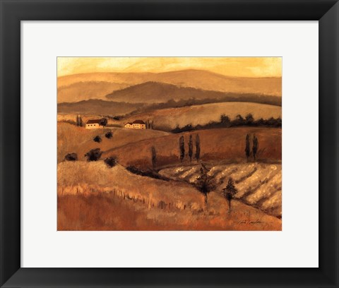 Framed Golden Tuscany Afternoon II Print
