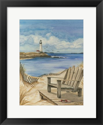 Framed Lighthouse View I Print