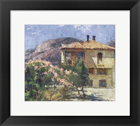 Framed Crimean House Print