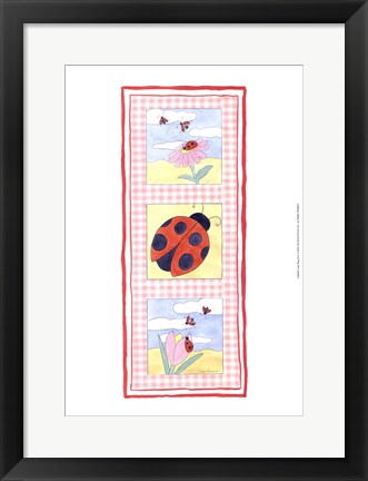Framed Lady Bug Trio Print