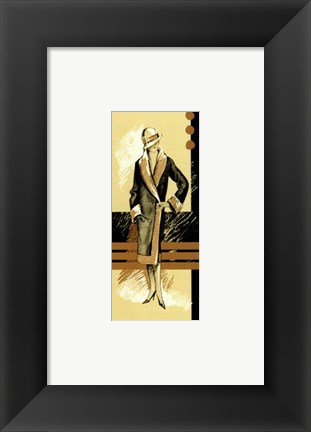Framed Retro Fashion II Print