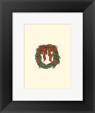 Framed Small Holiday Wreath (H) Print