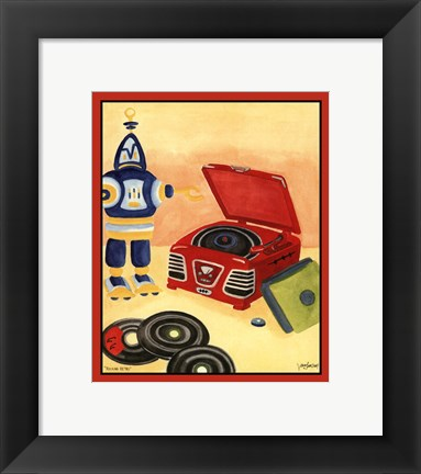 Framed Rocking Retro (H) Print