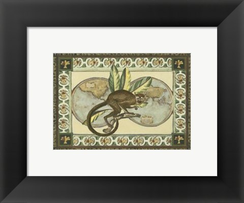 Framed Tropical Monkey II Print