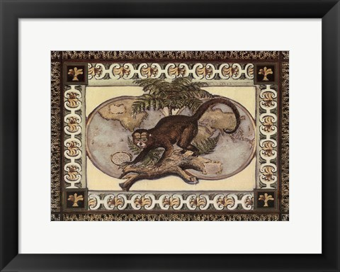 Framed Large Tropical Monkey I Print