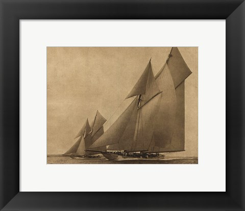 Framed Racing Yachts IV Print