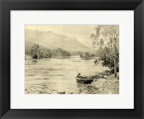 Framed On the River III Print
