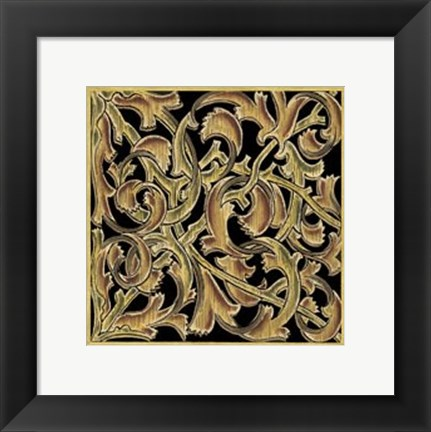 Framed Ornamental Squares II Print