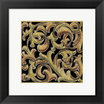 Framed Ornamental Squares III Print