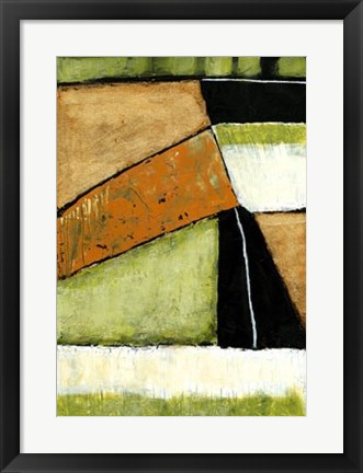 Framed Acid Green Asphalt I Print