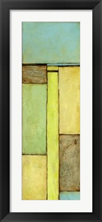 Framed Stained Glass Window V Print