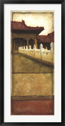 Framed Oriental Panel II Print