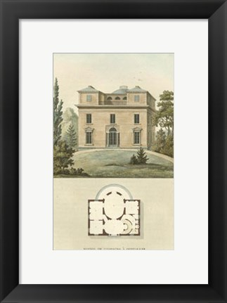 Framed Architectural Detail II Print