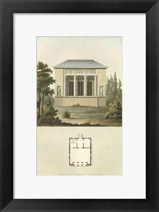 Framed Architectural Detail III Print
