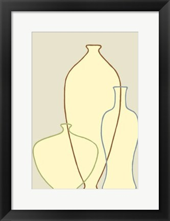 Framed Linear Vessels II Print