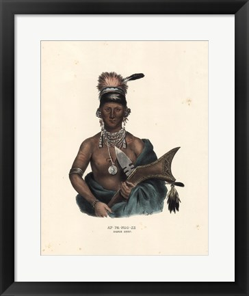 Framed Saukie Chief Print