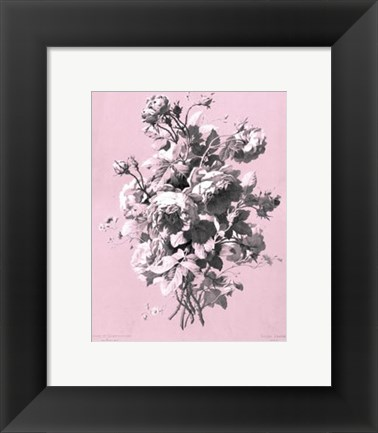 Framed Roses on Pink Print