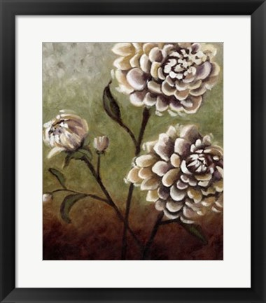 Framed Eastern Dahlias I Print