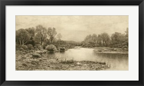 Framed Tranquil Riverscape IV Print