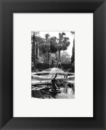 Framed Garden Fountain II Print