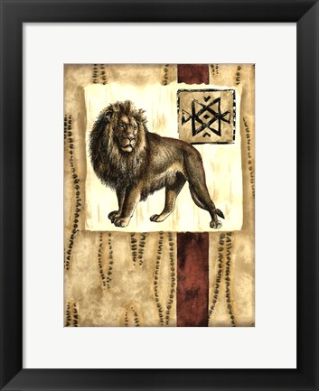 Framed Impressions of Africa III Print