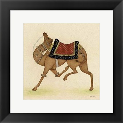 Framed Camel from India I Print