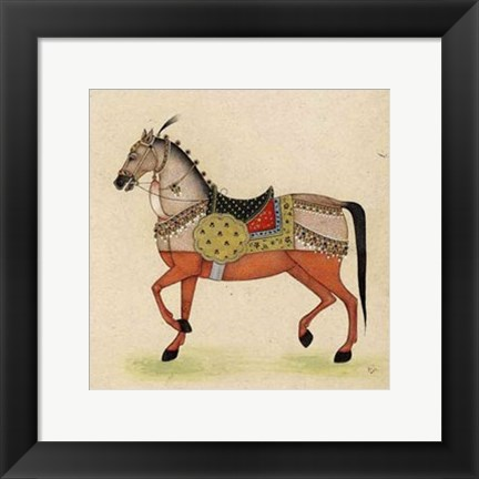 Framed Horse from India I Print