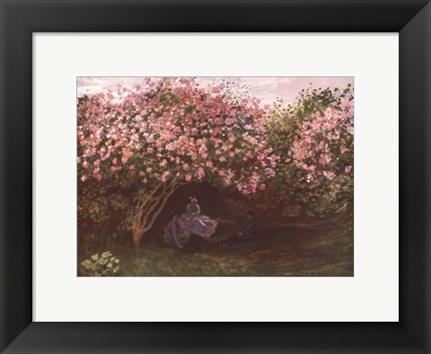 Framed Resting under the Lilacs Print