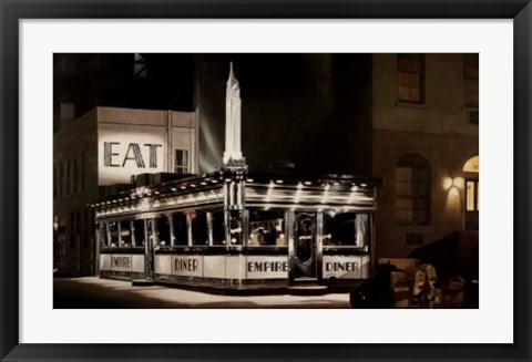 Framed Empire Diner, 1976 Print