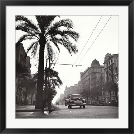 Framed Sunset on the Diagonal, 1953 Print