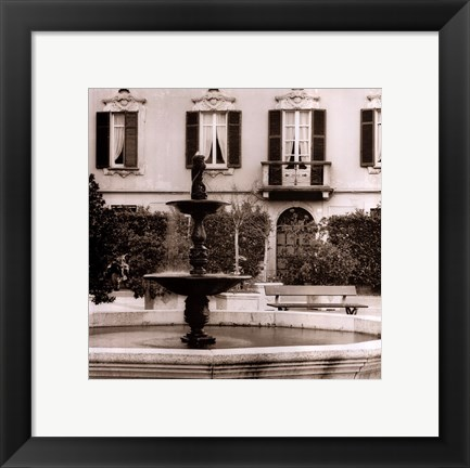 Framed Piazza, Lombardy Print