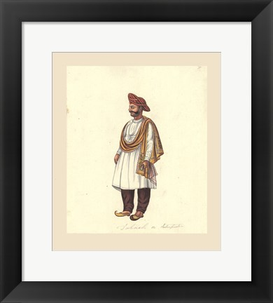 Framed Indian Costumes Print