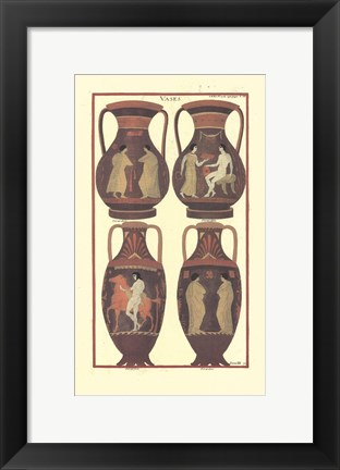 Framed Greek Vases Print