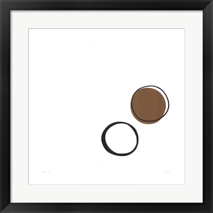 Framed Taupe I (giclee) (medium) Print