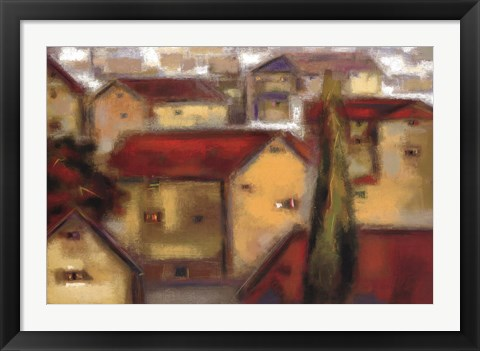 Framed Village View Print