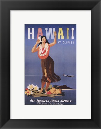 Framed Hawaii by Clipper Print