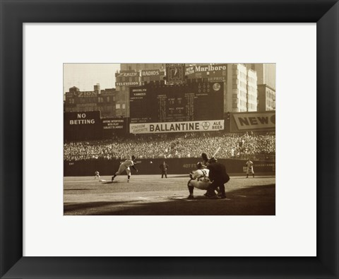 Framed Don Larsen - Perfect Game Print