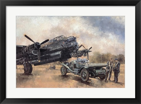 Framed Lancaster and a Bentley Print